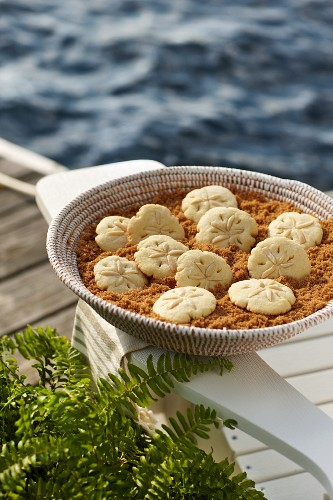 Sand Dollar Cookies (Traditionelles Rührteiggebäck, USA)