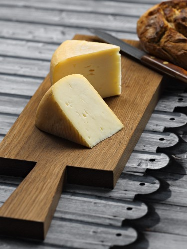 Bregenz Forest cheese on a chopping board