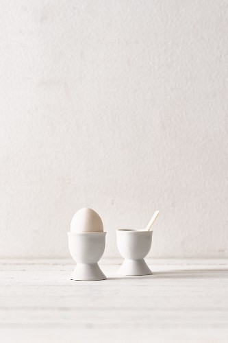 White egg in eggcup