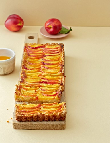 A marzipan and nectarine tart