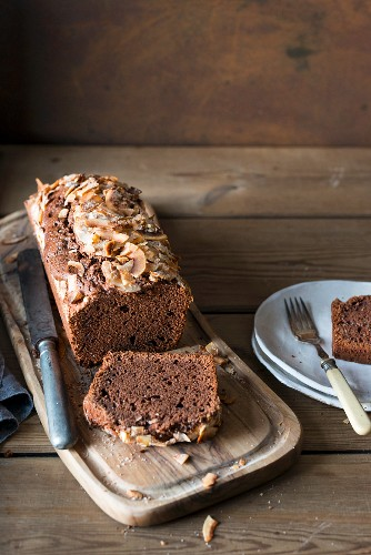 Chocolate and coconut pound cake