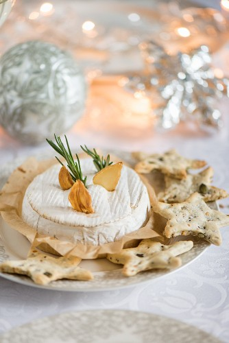 Gebackener Camembert zu Weihnachten