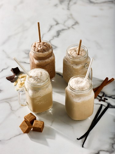 Iced chocolate smoothies