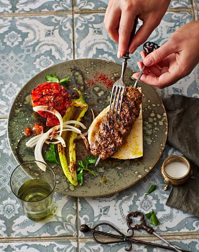 Kaba Kubideh – grilled Persian minced meat kebabs