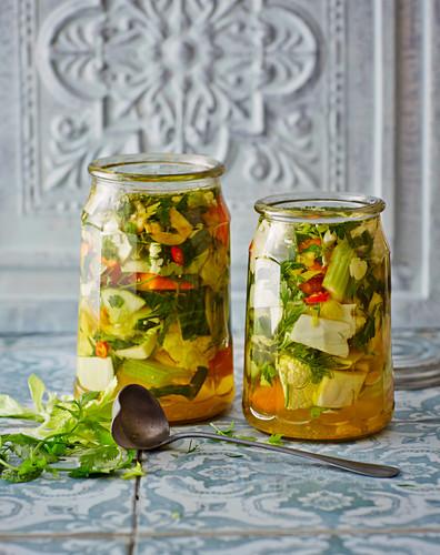Shur – pickled Persian vegetables