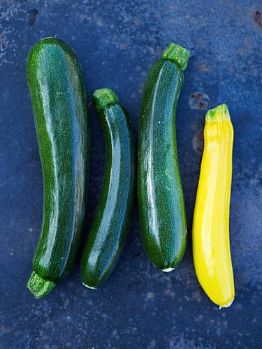 Green and yellow zucchinis