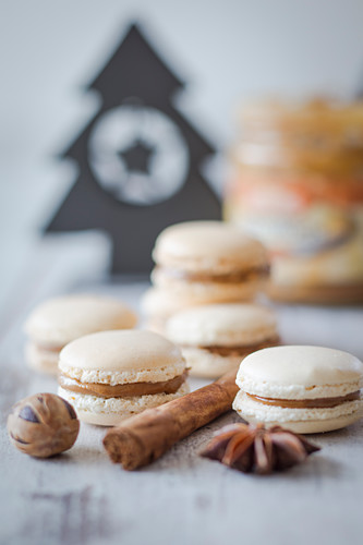 Speculoos gingerbread biscuit macaroons