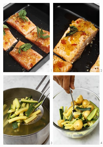 00277296         - Preparing salmon with mustard fruit, potatoes & courgettes