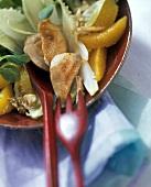 Salatteller mit Hähnchennuggets