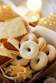 Weihnachtsplätzchen: Sterne, Kringel und Herzen