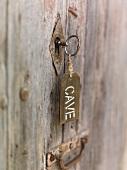Key in wine cellar door