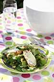 Watercress salad with Stilton baguettes