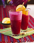 Vitamin bomb: beetroot and fruit drink