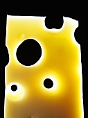 A slice of Emmental cheese