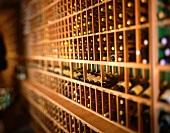 Wine Cellar with Racks of Wine