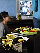 Football Party; Vegan Party Food; People and TV