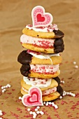 Stacked whoopie pies for Valentine's Day