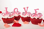 Letters cupcakes-love