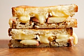 Grilled Cheese Sandwich with Brie Cheese and Apples