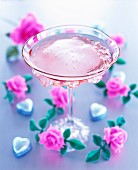 A rose cocktail
