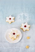Jam-filled star biscuits