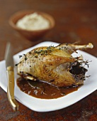 Partridge with onion sauce