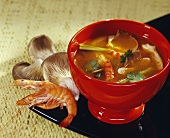 Thai national soup (Tom-Yum-Goong soup)
