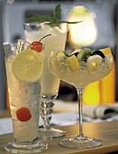 Drinks: Tom Collins, Sake shake, Cobbler a la Saison