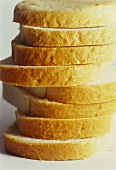 Slices of bread, in a pile