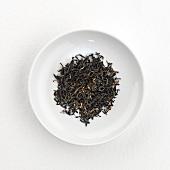 Assam tea (dry) on plate