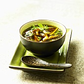 Mushroom soup with coriander