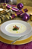 Artichoke soup with bacon (Christmas)