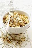 Lazanki (pasta with sauerkraut and mushrooms, Poland) for Christmas