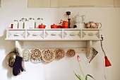 Wall shelf in kitchen