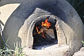 Clay oven in Viking village