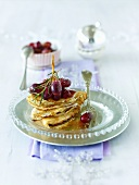 Crêpes with grapes and rosemary