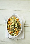 Vegetables with herbs and wheat