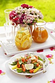 Bean and carrot salad with mozzarella