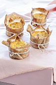 Pear, Parmesan and goat's cheese tarts