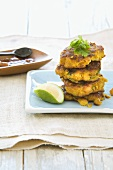 Pumpkin and chick-pea burgers