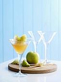 Haiku cocktail with vermouth, sake and Nashi pears