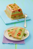 Tomato and spinach terrine