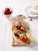 Tomatoes stuffed with goats' cheese