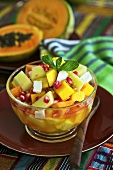 Exotic fruit salad with pomegranate seed