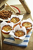 Apple and almond muffins