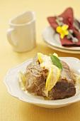 Braised beef with lemon and horseradish cream