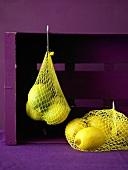 Lemons in net bags