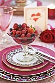Mixed berry salad for Valentine's Day