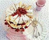 Redcurrant and cherry gateau