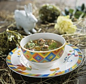 Liver dumpling soup for Easter